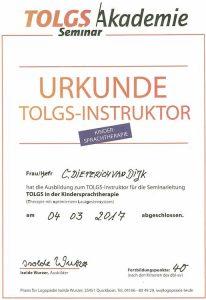 Zertifikat TOLG Instruktor